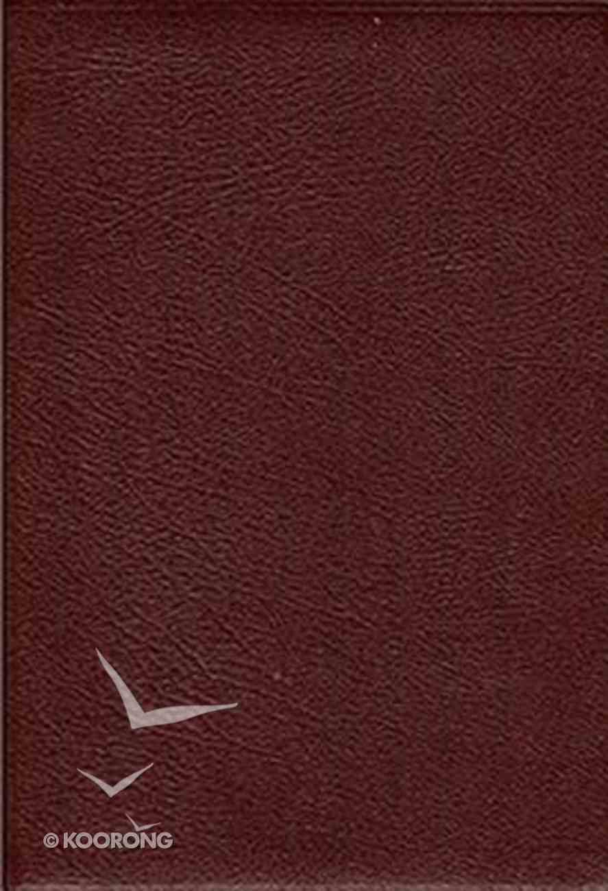 NKJV Thompson Chain Reference Bible Burgundy (Red Letter Edition) Bonded Leather