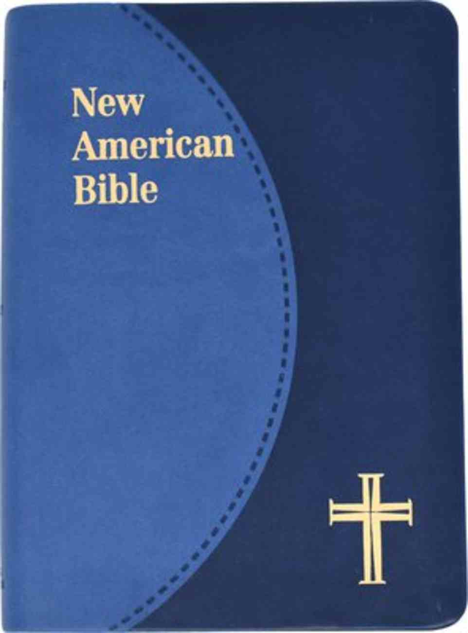 Nab Saint Joseph Personal Size Bible Duo Tone Brown Imitation Leather