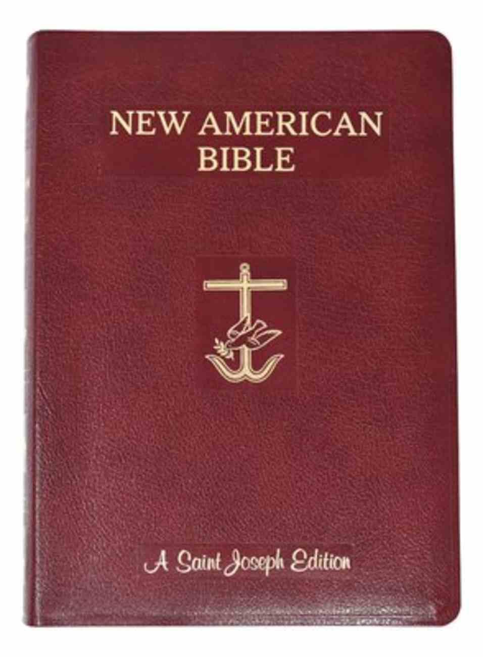 Nab St. Joseph New American Bible Giant Print Burgundy Bonded Leather