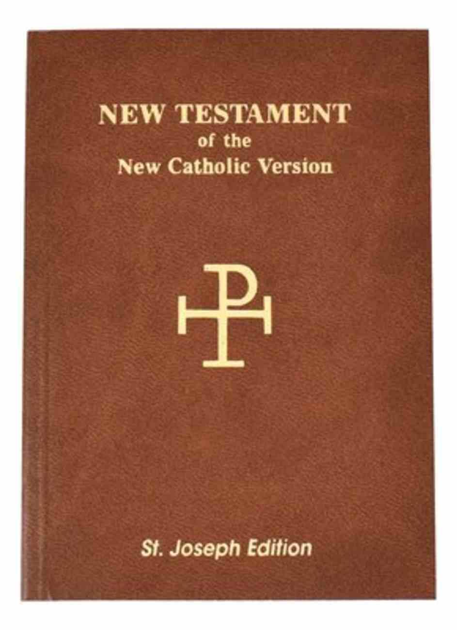St Joseph New Catholic Version New Testament Vest Pocket Flexi Back