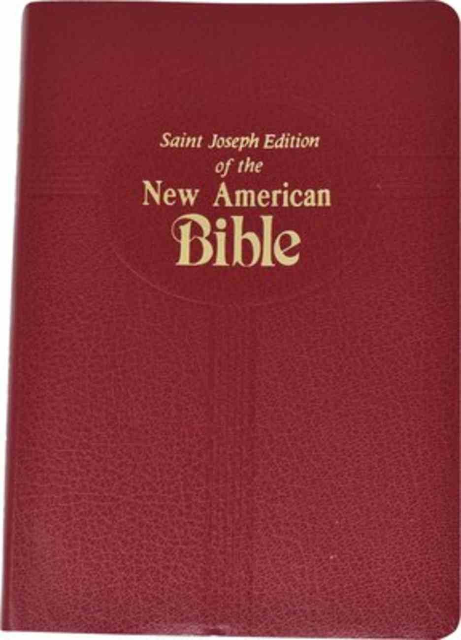 Nab Saint Joseph Medium Size Bible Red Imitation Leather