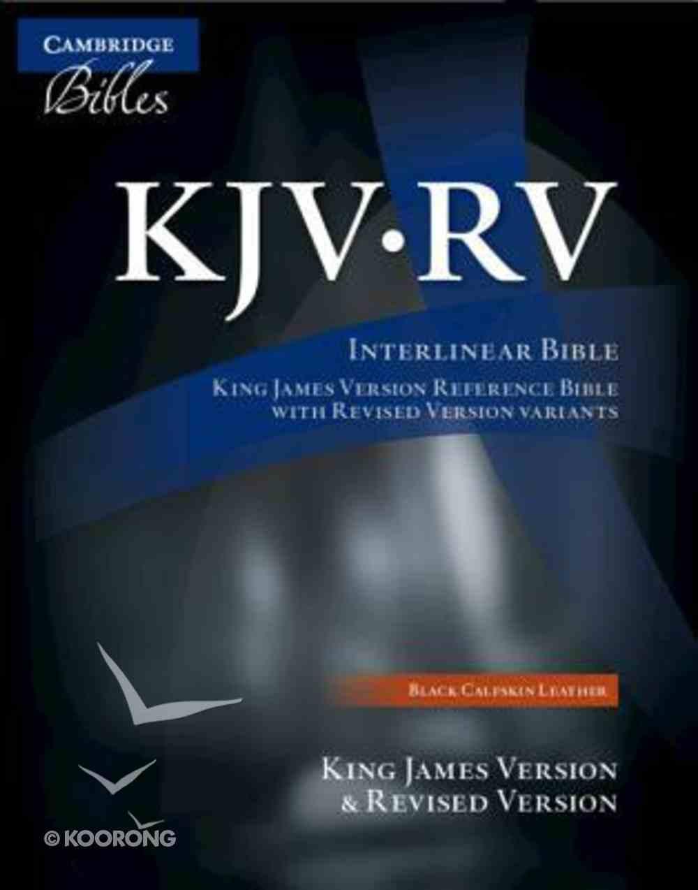 Kjv/Rv Interlinear Black Genuine Leather