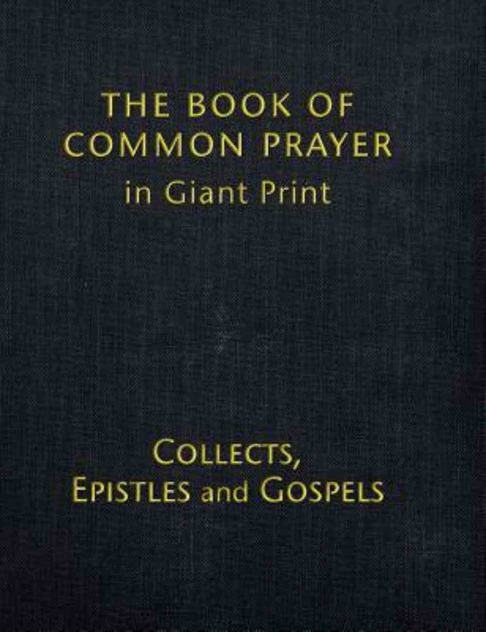 Book of Common Prayer (Volume 2) Black (Giant Print) Hardback