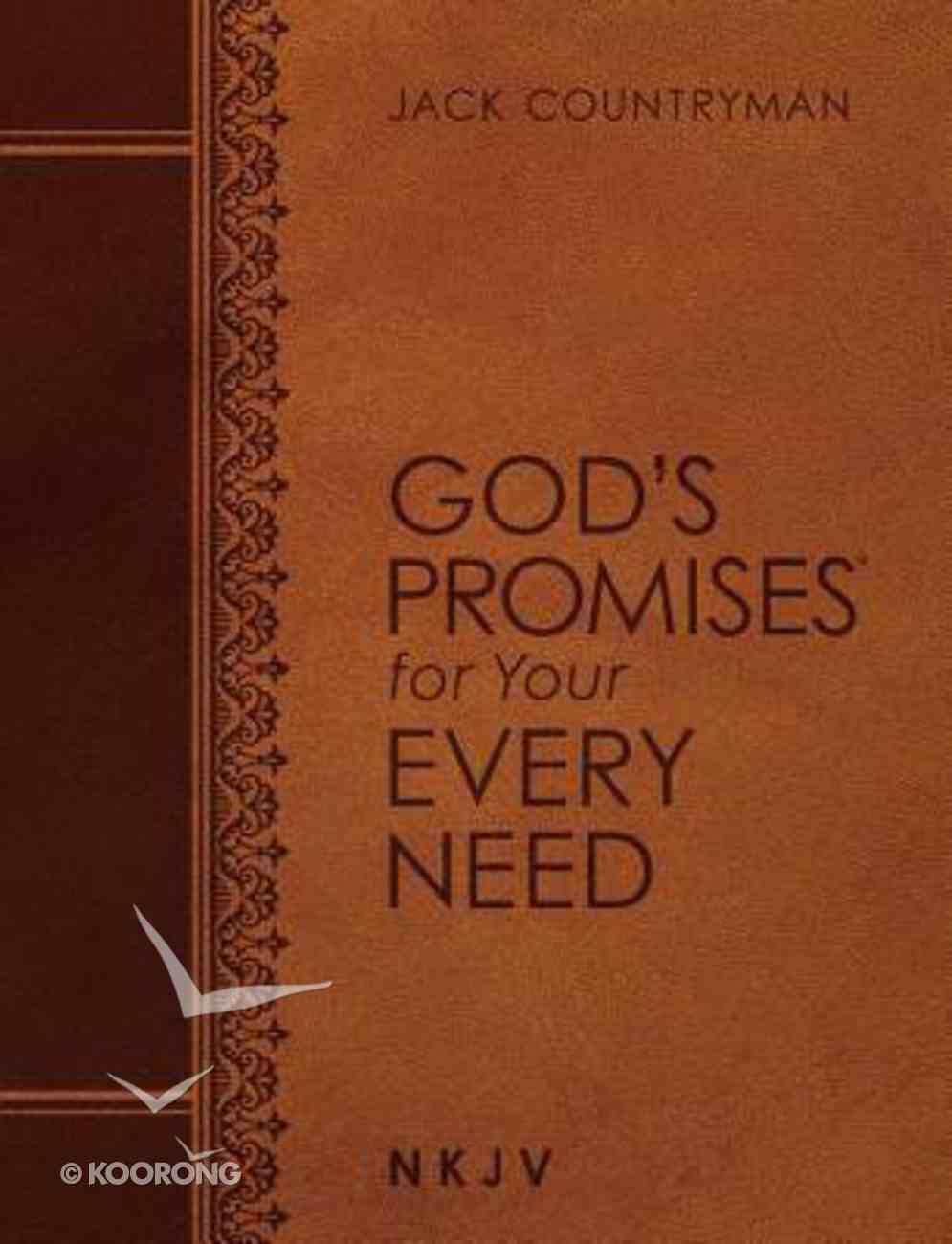 God's Promises For Your Every Need NKJV (Large Print, Leathersoft) Imitation Leather