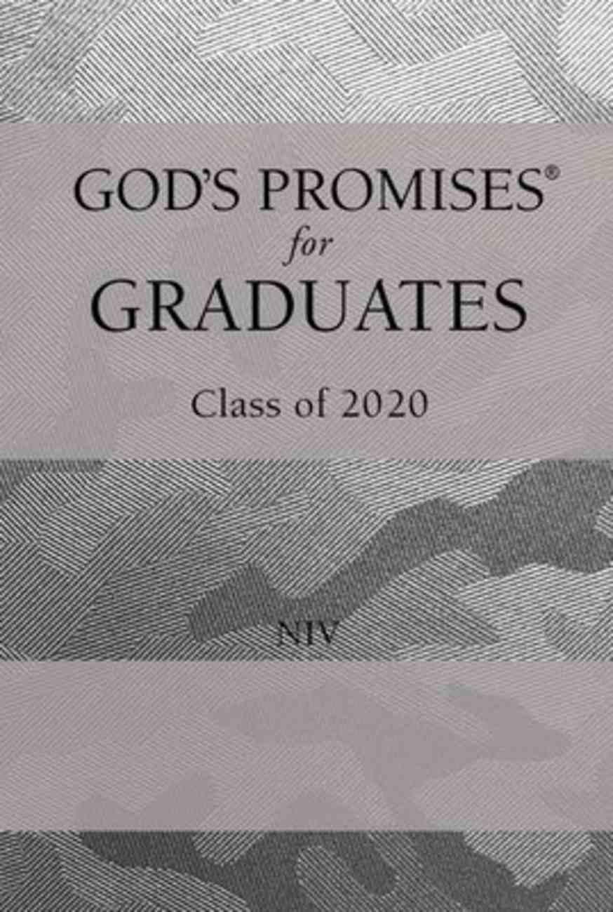 God's Promises For Graduates: Class of 2020 - Silver Camouflage NIV Hardback