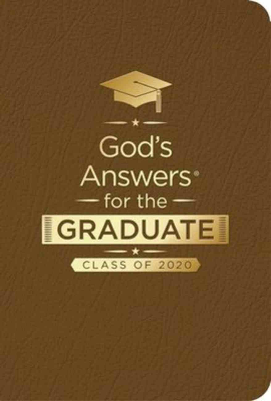 God's Answers For the Graduate: Class of 2020 - Brown NKJV Imitation Leather