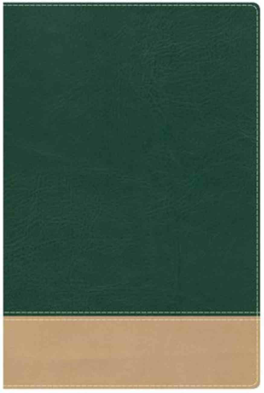HCSB Teacher's Bible Green/Tan Imitation Leather