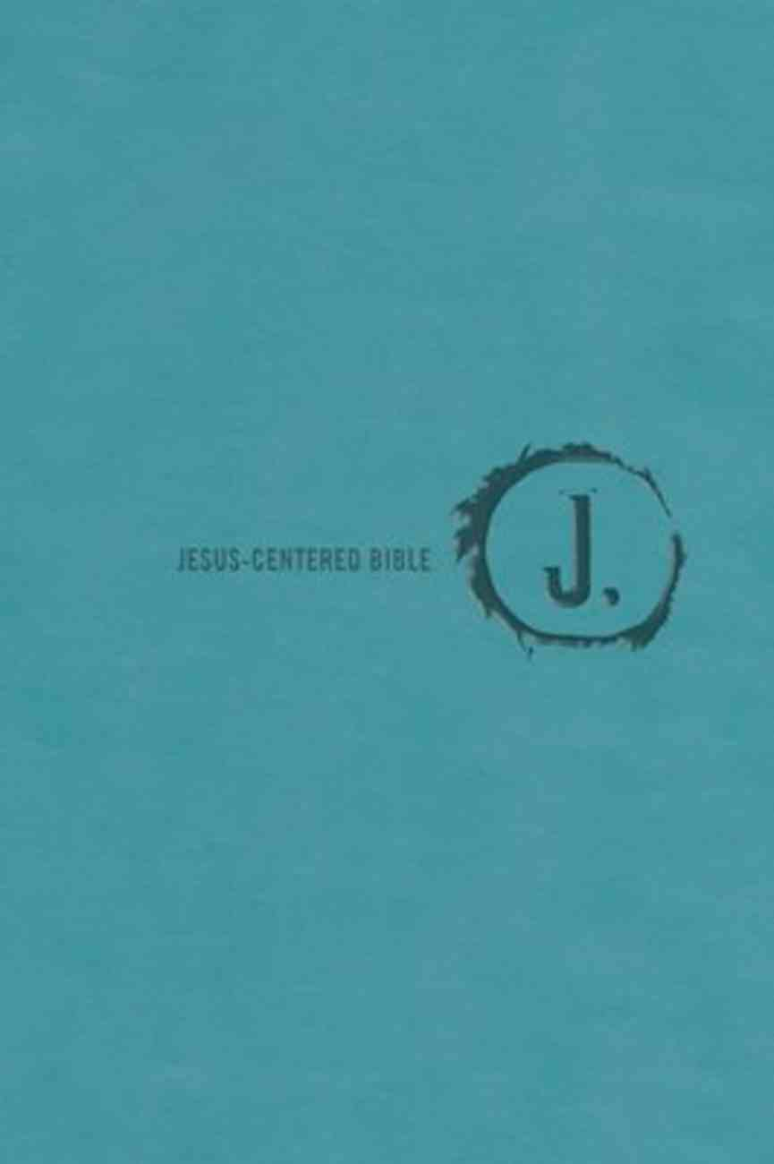 NLT Jesus Centered Bible Turquoise Imitation Leather