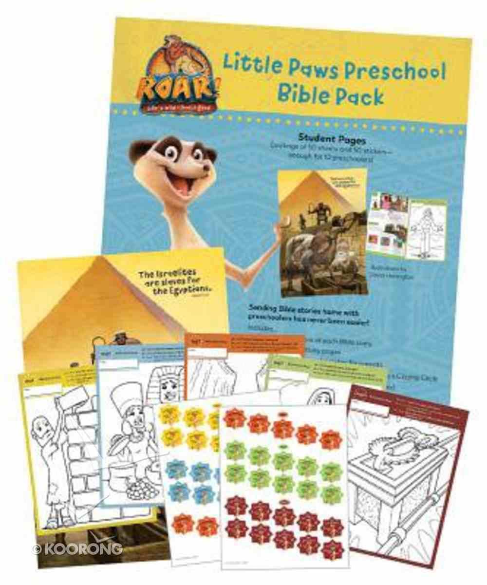 2019 Vbs Roar Little Paws Preschool Bible Pack (Pack Of 10) Pack