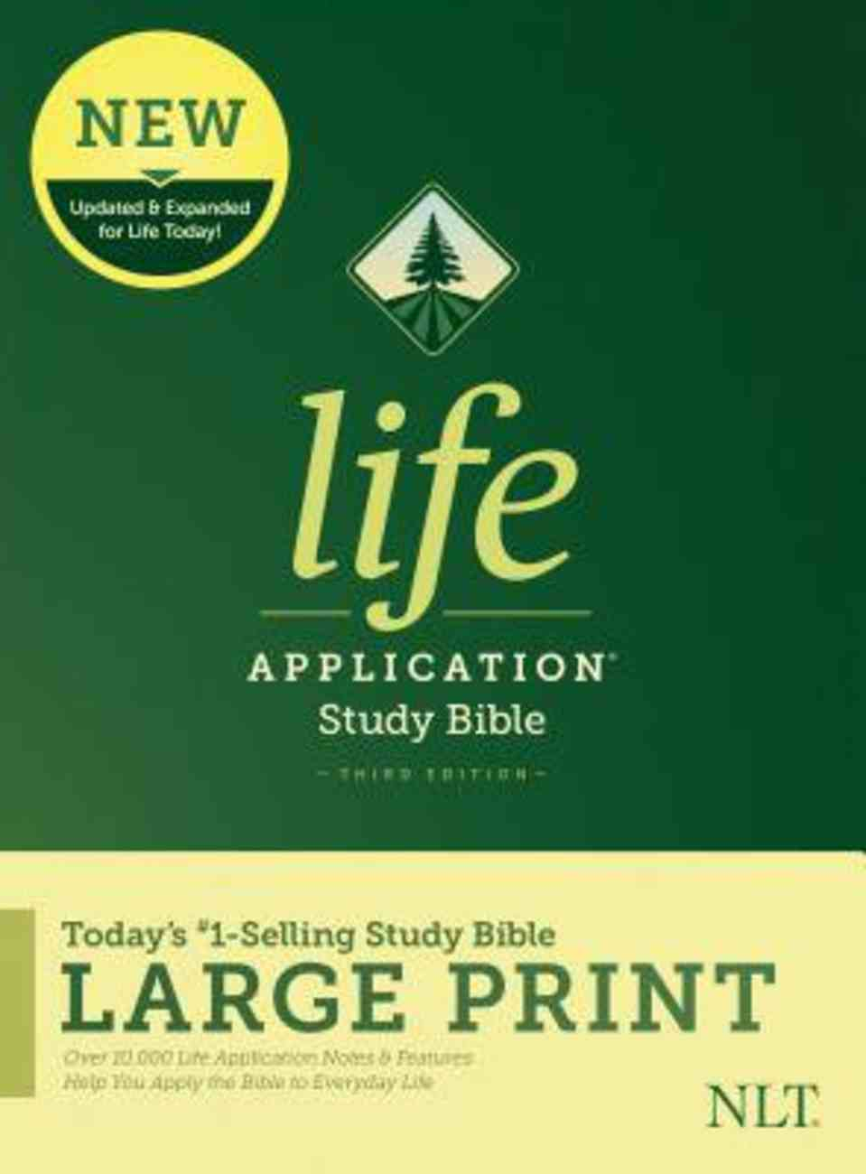 NLT Life Application Study Bible Third Edition Large Print (Black Letter Edition) Hardback