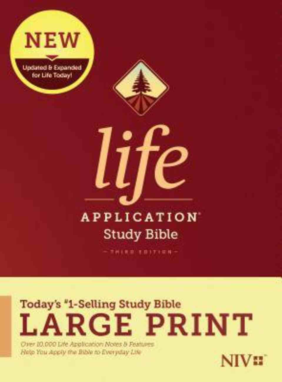 NIV Life Application Study Bible Third Edition Large Print (Black Letter Edition) Hardback