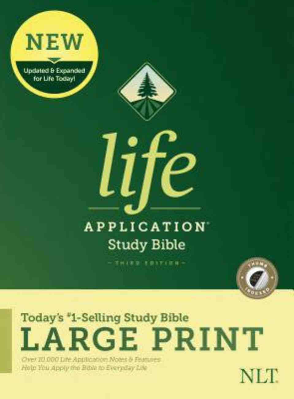 NLT Life Application Study Bible Third Edition Large Print Indexed (Black Letter Edition) Hardback