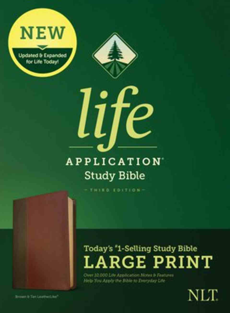 NLT Life Application Study Bible Third Edition Large Print Brown/Tan (Black Letter Edition) Imitation Leather