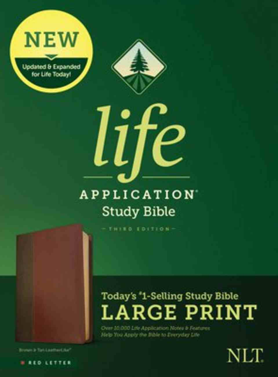 NLT Life Application Study Bible Third Edition Large Print Brown/Tan (Red Letter Edition) Imitation Leather