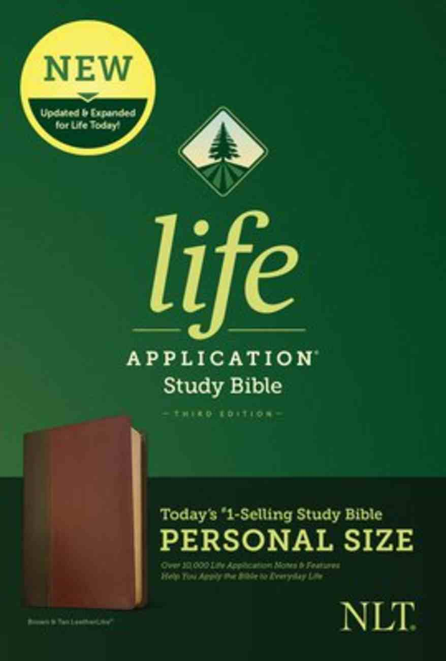NLT Life Application Study Bible Third Edition Personal Size Brown/Tan (Black Letter Edition) Imitation Leather