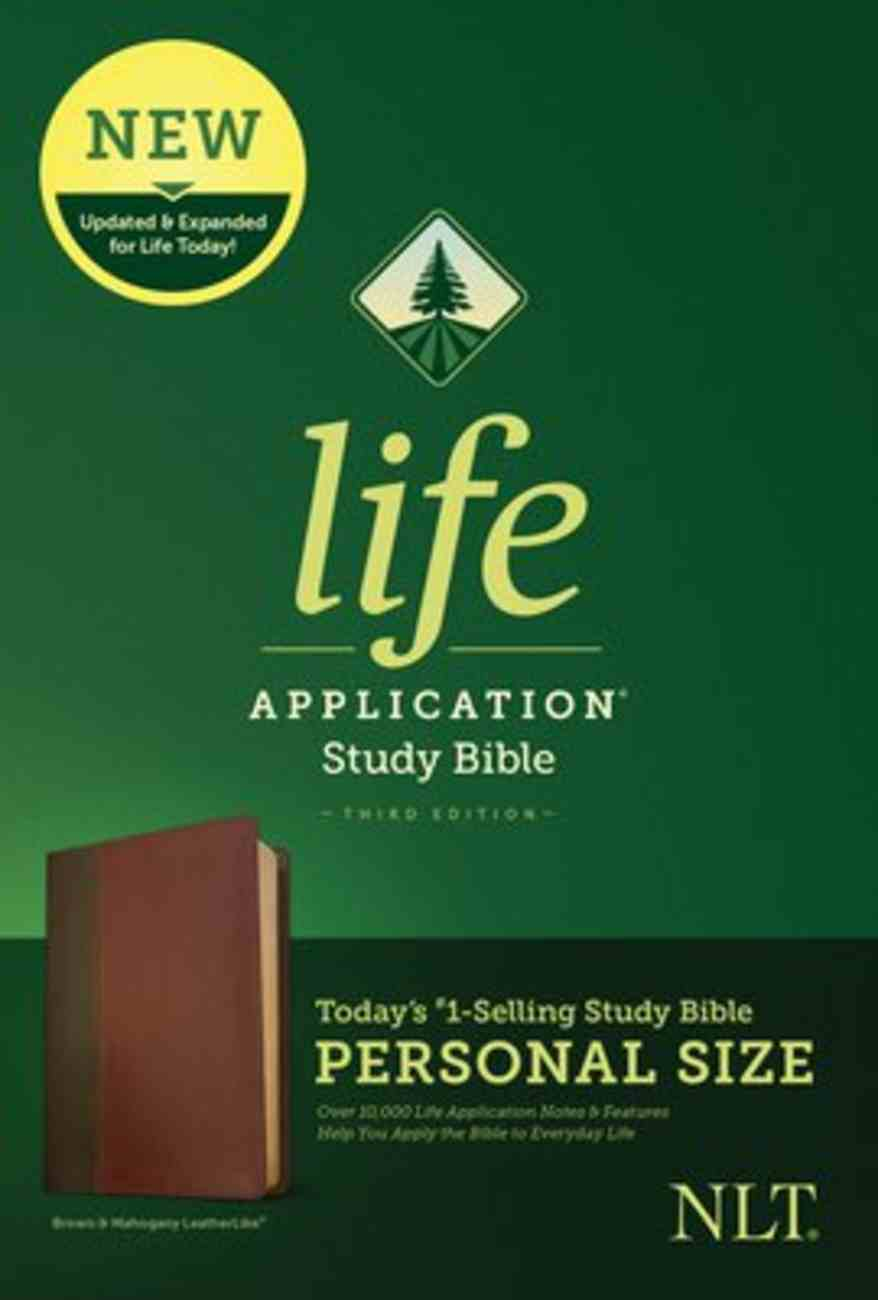 NLT Life Application Study Bible 3rd Edition Personal Size Brown/Mahogany (Black Letter Edition) Imitation Leather