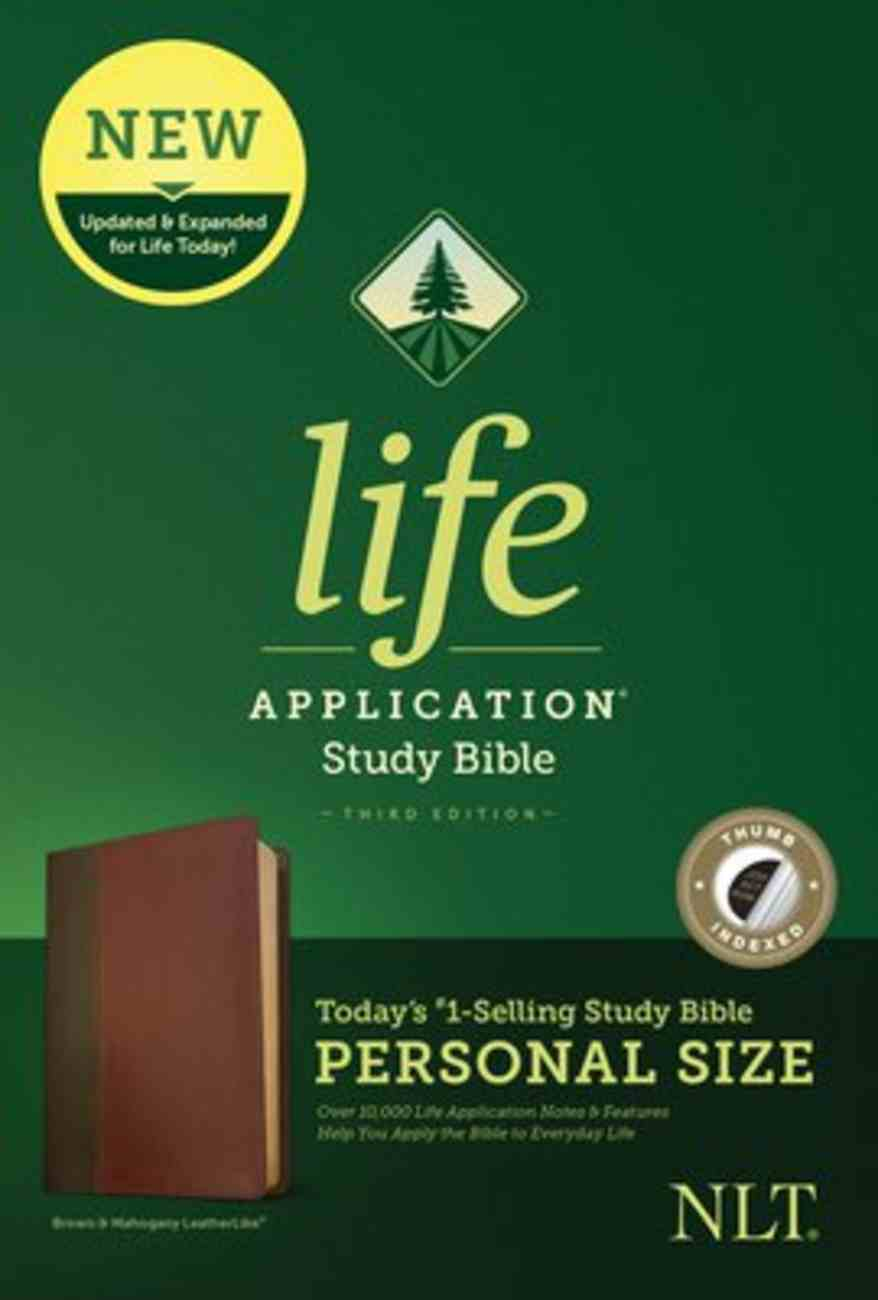 NLT Life Application Study Bible 3rd Edition Personal Size Brown/Mahogany Indexed (Black Letter Edition) Imitation Leather