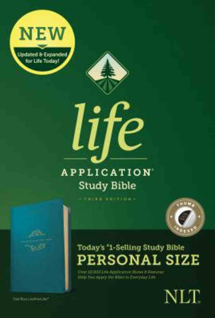 NLT Life Application Study Bible 3rd Edition Personal Size Teal Blue Indexed (Black Letter Edition) Imitation Leather
