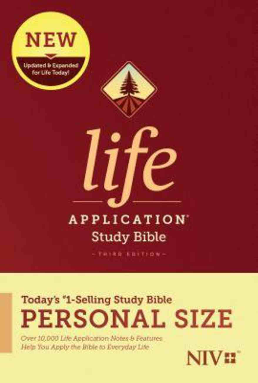 NIV Life Application Study Bible Third Edition Personal Size (Black Letter Edition) Paperback
