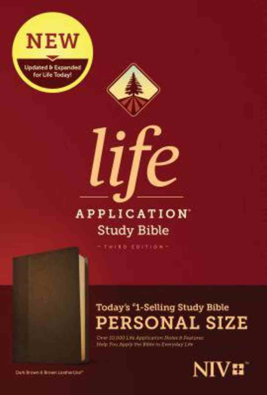 NIV Life Application Study Bible Third Edition Personal Size Dark Brown/Brown (Black Letter Edition) Imitation Leather