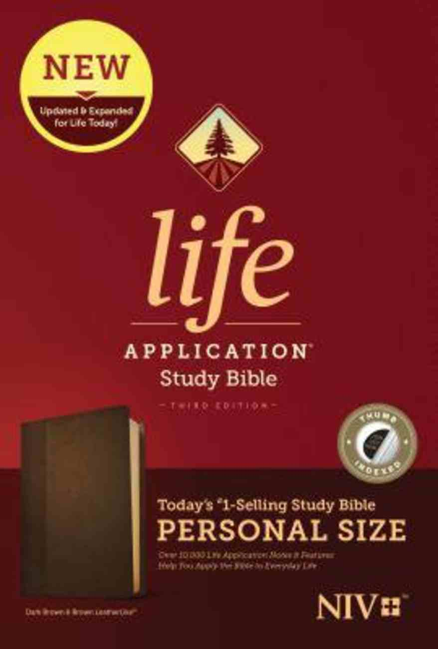 NIV Life Application Study Bible Third Edition Personal Size Dark Brown/Brown Indexed (Black Letter Edition) Imitation Leather