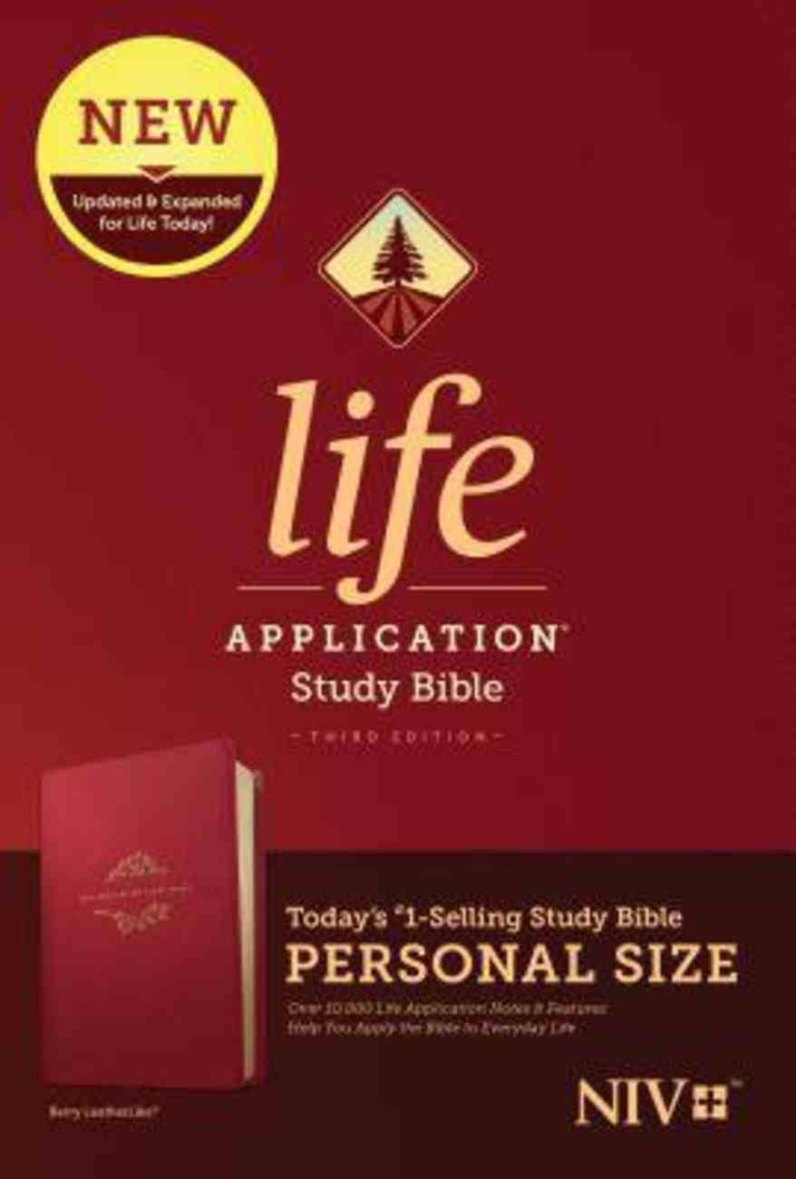 NIV Life Application Study Bible Third Edition Personal Size Berry (Black Letter Edition) Imitation Leather