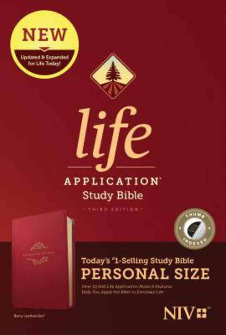 NIV Life Application Study Bible Third Edition Personal Size Berry Indexed (Black Letter Edition) Imitation Leather