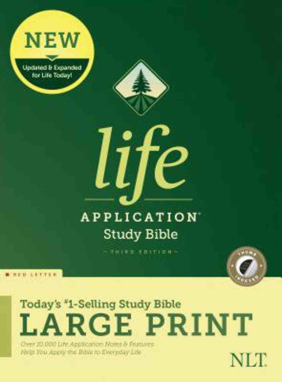 NLT Life Application Study Bible Third Edition Large Print Indexed (Red Letter Edition) Hardback