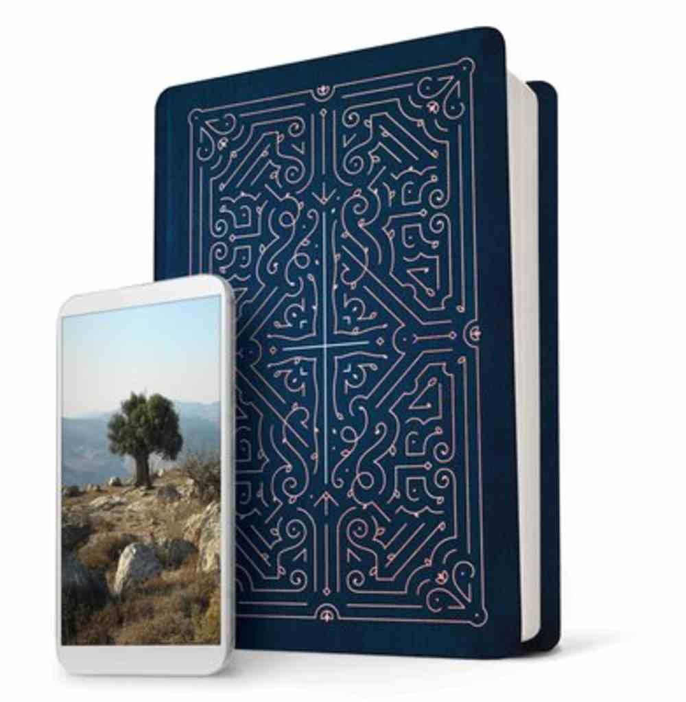 NLT Filament Bible Blue (Black Letter Edition) (The Print+digital Bible) Imitation Leather