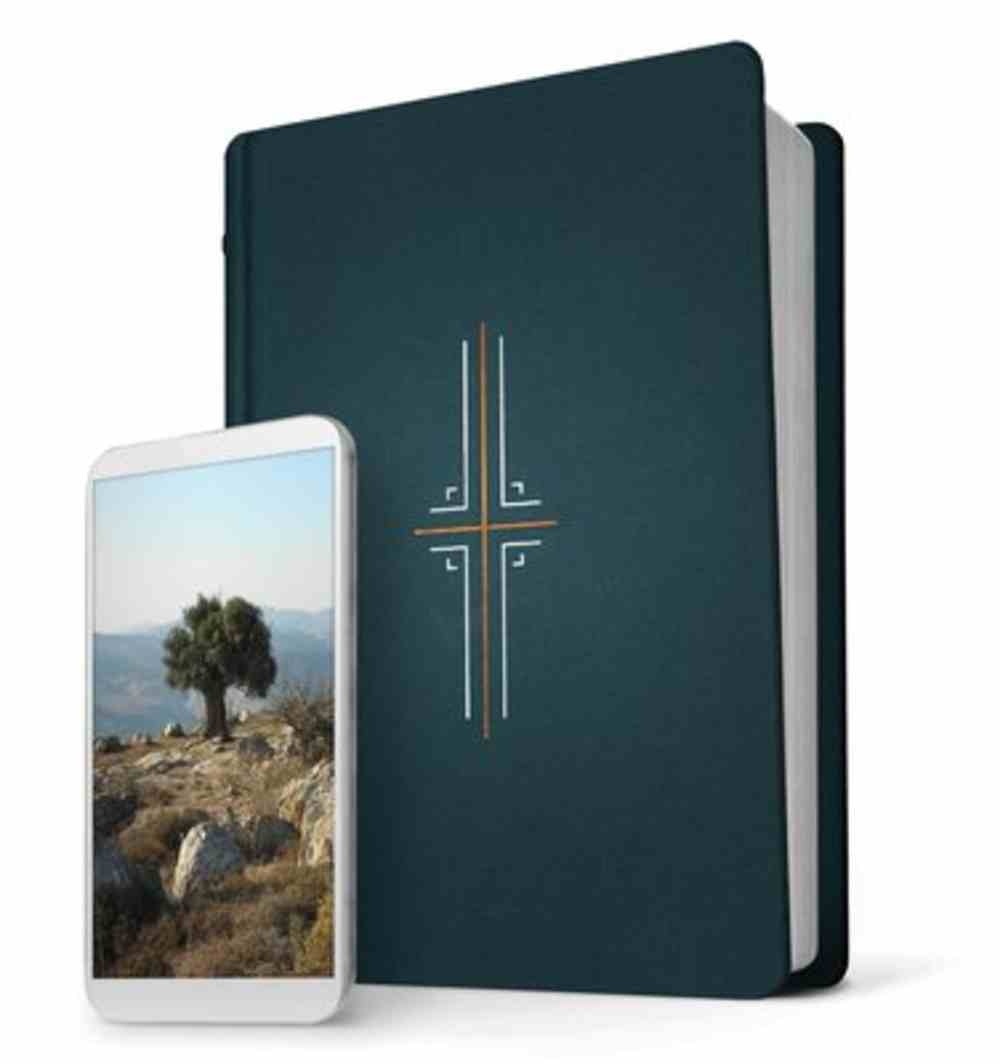 NLT Filament Bible Indexed Midnight Blue (Black Letter Edition) (The Print+digital Bible) Fabric Over Hardback