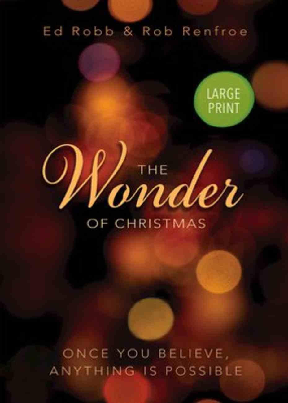 The Wonder of Christmas (Large Print) Paperback