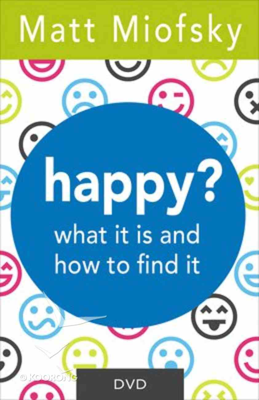 Happy?: What It is and Ow to Find It (Dvd) DVD