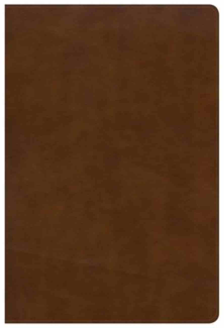 NKJV Large Print Ultrathin Reference Bible British Tan Indexed (Red Letter Edition) Imitation Leather