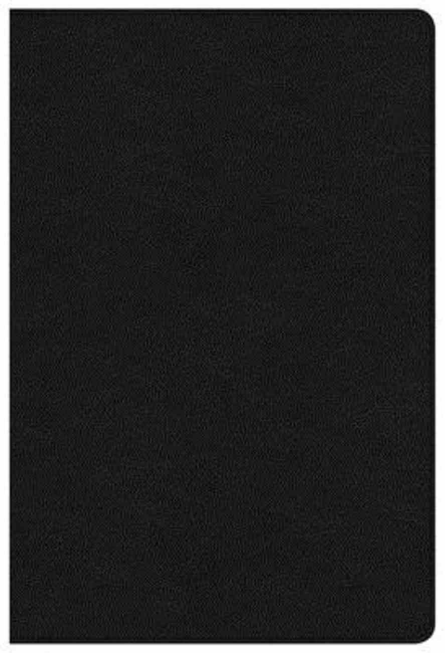 NKJV Large Print Ultrathin Reference Bible Black Indexed (Red Letter Edition) Genuine Leather