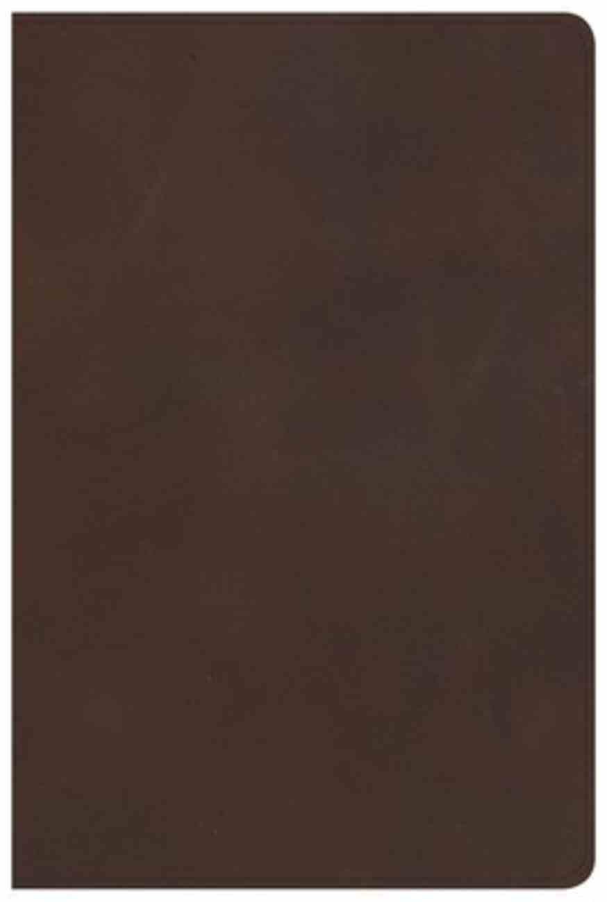 KJV Large Print Personal Size Reference Bible Brown (Red Letter Edition) Genuine Leather