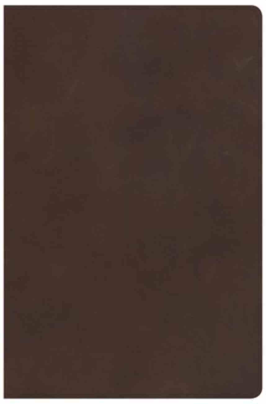 KJV Super Giant Print Reference Bible Brown (Red Letter Edition) Genuine Leather