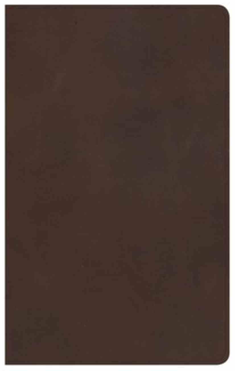 KJV Ultrathin Reference Bible Brown (Red Letter Edition) Genuine Leather