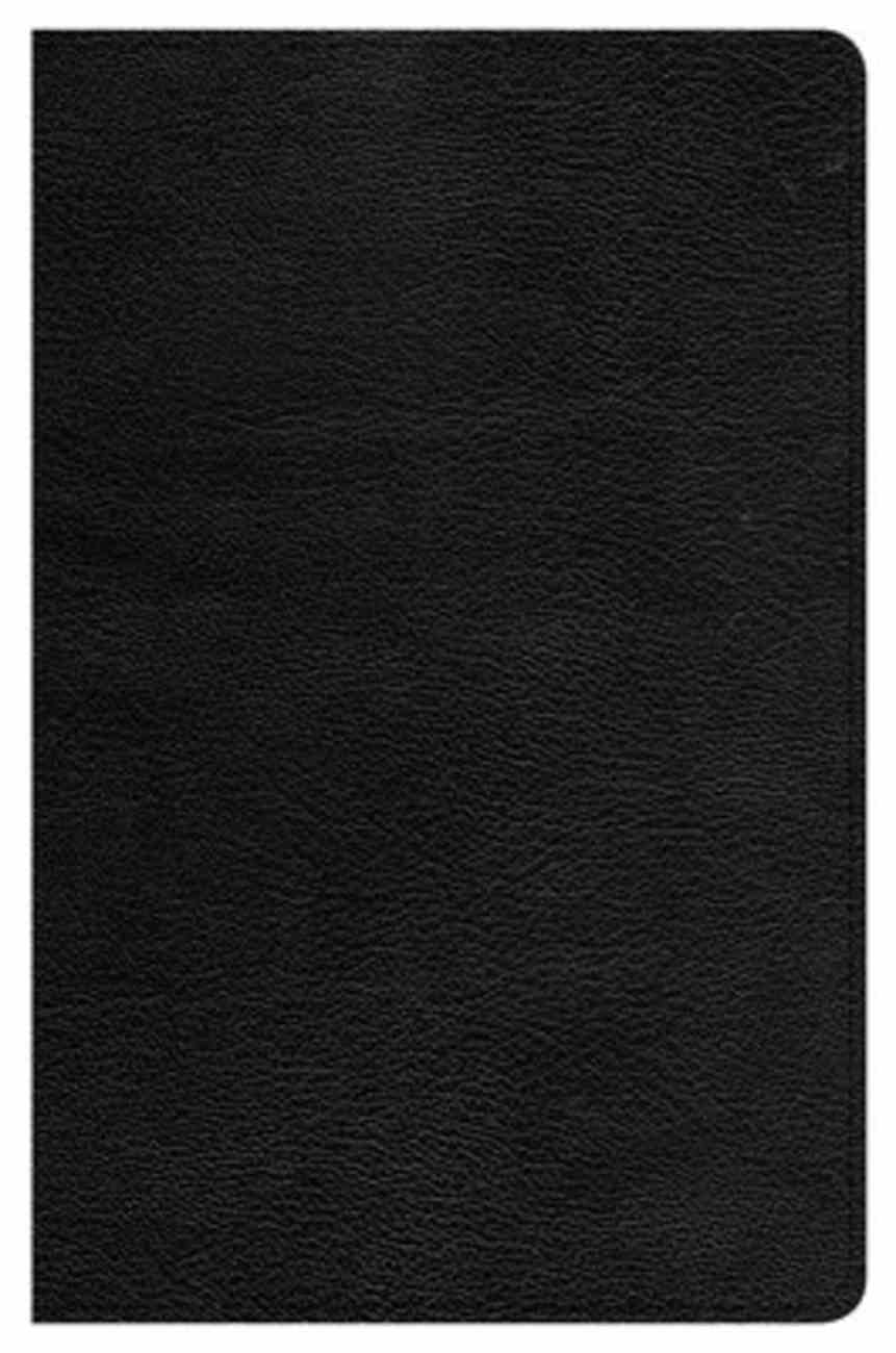 CSB Ultrathin Reference Bible Black Indexed (Red Letter Edition) Genuine Leather