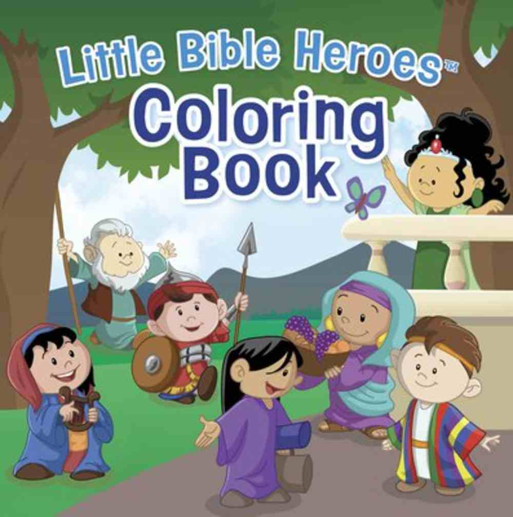 Coloring Book (Little Bible Heroes Series) Paperback