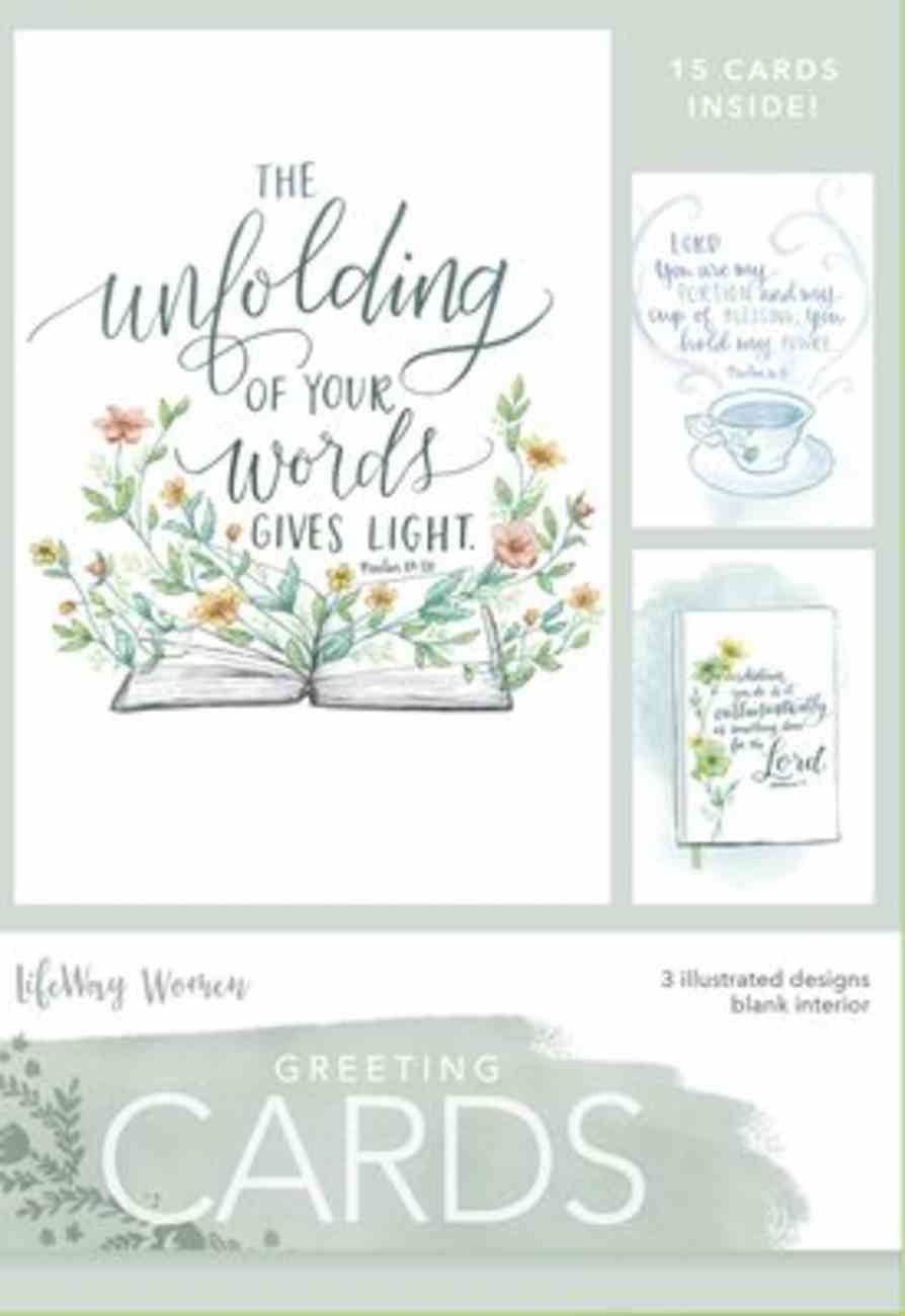 Boxed Cards Blank: Unfolding Your World, 15 Cards and Envelopes, 3 Designs Box