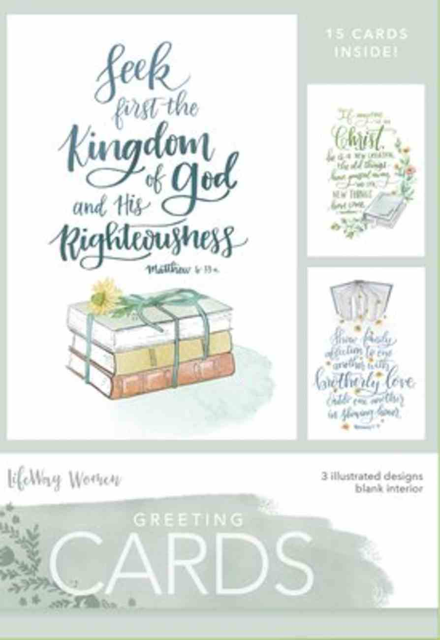 Boxed Cards Blank: Kingdom of God, 15 Cards and Envelopes, 3 Designs Box