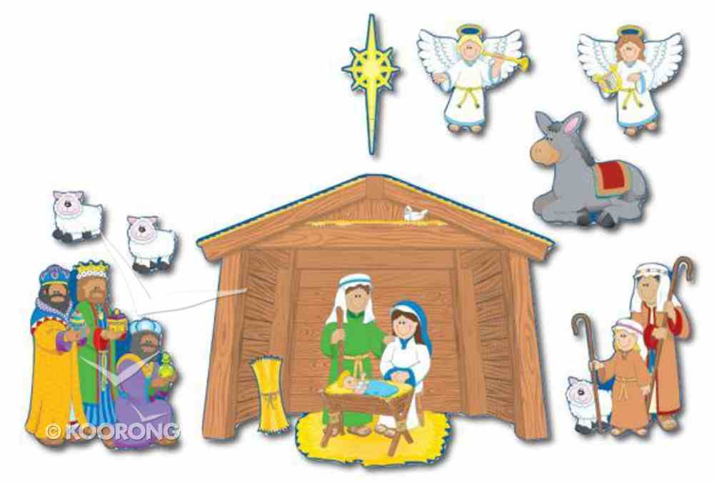 Bulletin Board Set: Nativity Prek-Grade5 / Ages 4-11 (15 Pieces) Pack