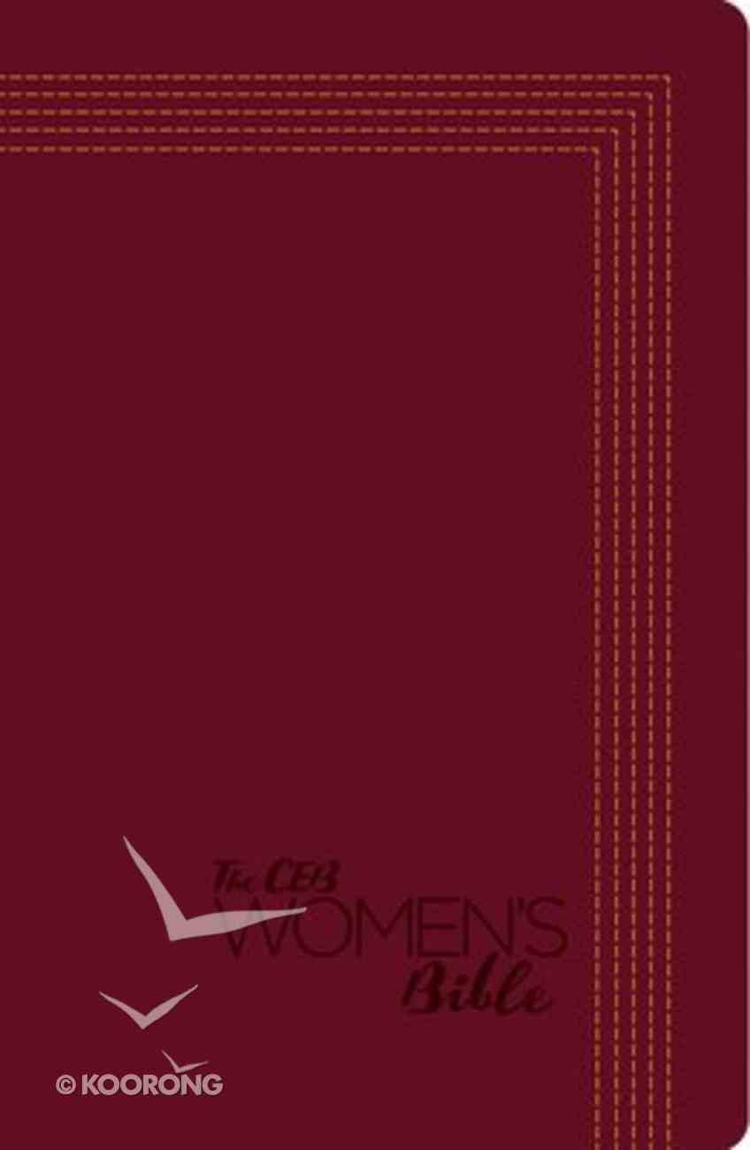 Ceb Women's Bible Red Decotone Imitation Leather