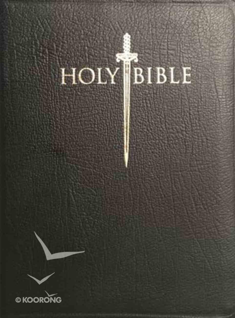 KJV Sword Study Personal Size Giant Print Bible Genuine Black Leather Genuine Leather