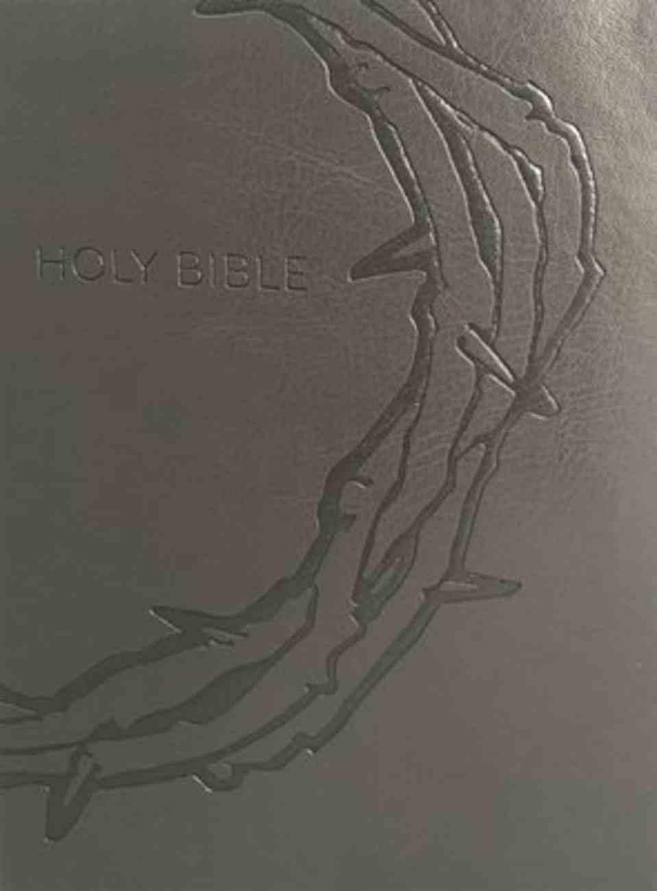 KJV Sword Study Bible Personal Size Large Print Crown of Thorns Indexed (Red Letter Edition) Genuine Leather