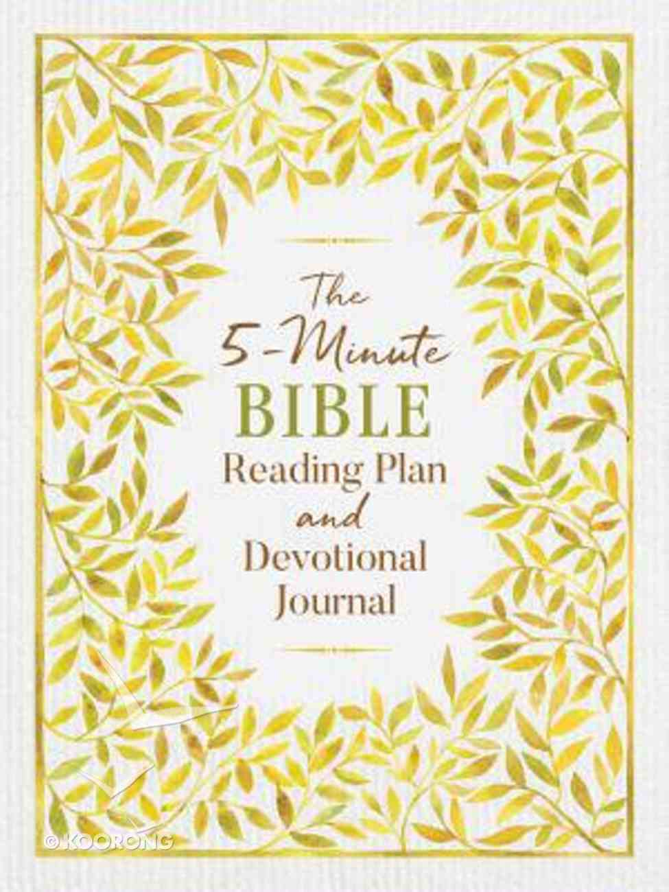 The 5-Minute Bible Reading Plan and Devotional Journal Flexi Back