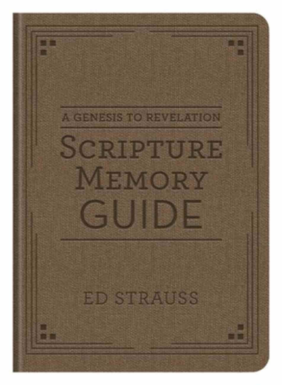 A Genesis to Revelation Scripture Memory Guide Flexi Back
