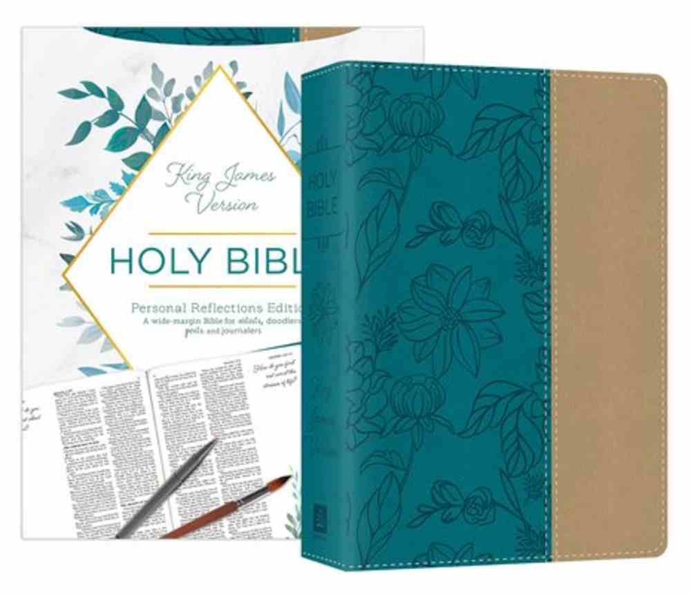 KJV Personal Reflections Bible With Prompts Teal (Red Letter Edition) Imitation Leather