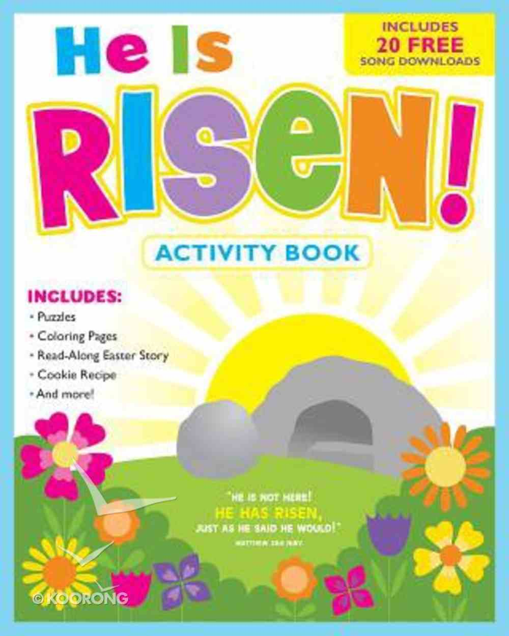 Activity Book: He is Risen! (Incl.free Music Download) Paperback
