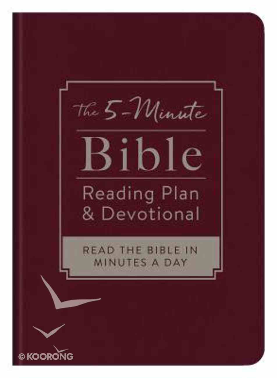 The 5-Minute Bible Reading Plan and Devotional: Read the Bible in Minutes a Day Imitation Leather